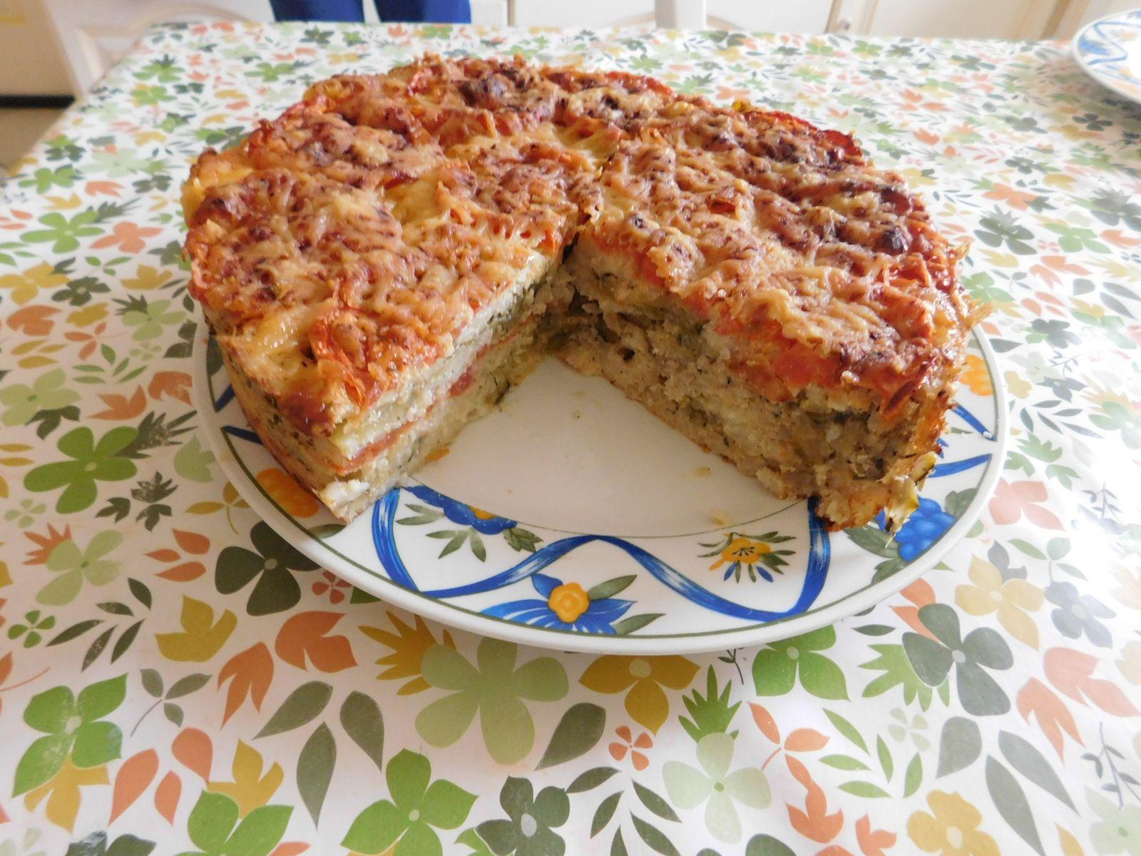 Gâteau de riz aux couleurs méridionales