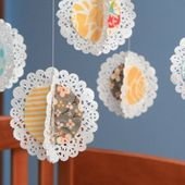 Guest Project -- Make a Hanging Fabric Doily Mobile!!