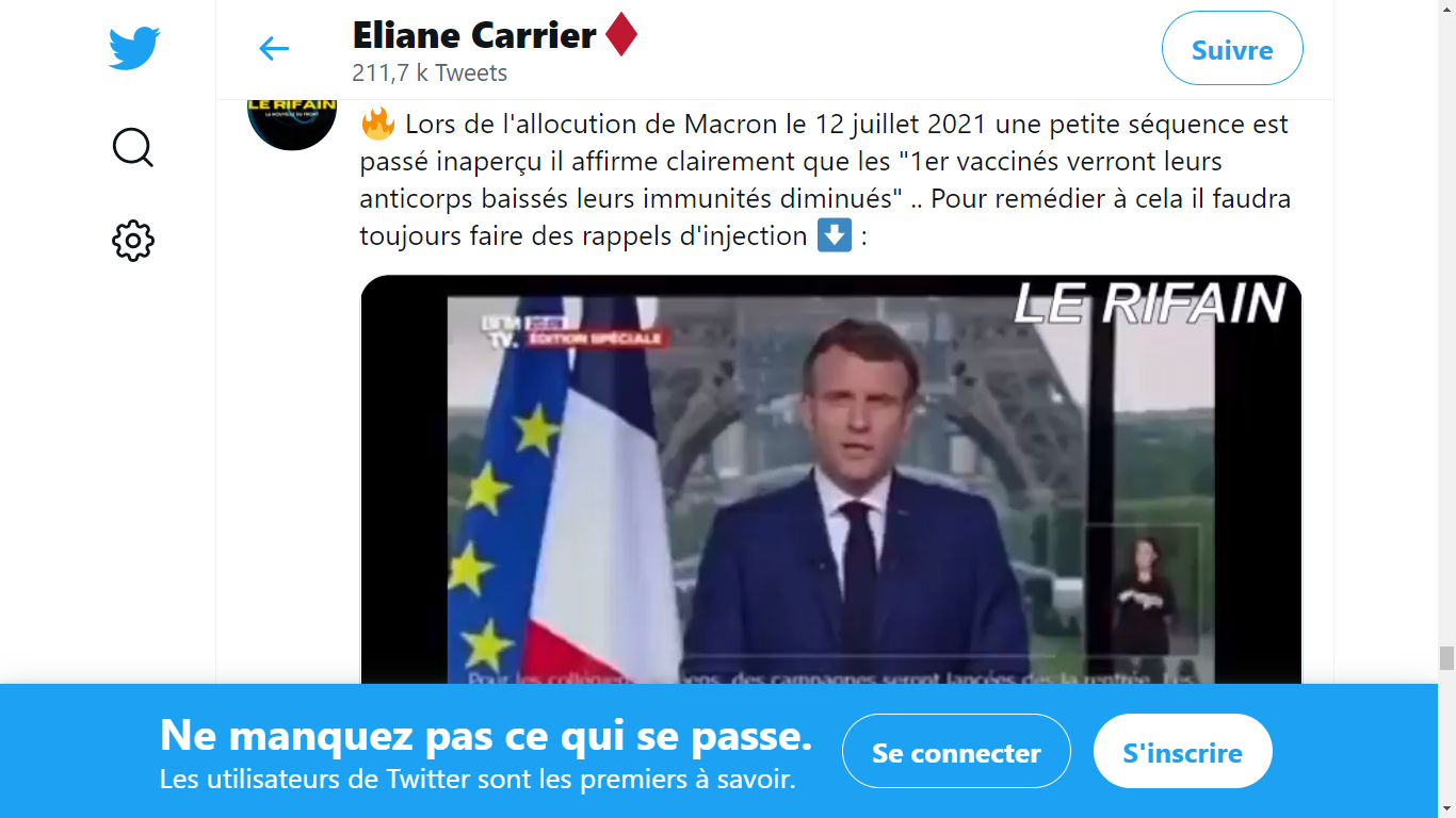 """Macron : """"les vaccinés les premiers verront leurs anticorps baissés, leurs immunités diminuées"""""""