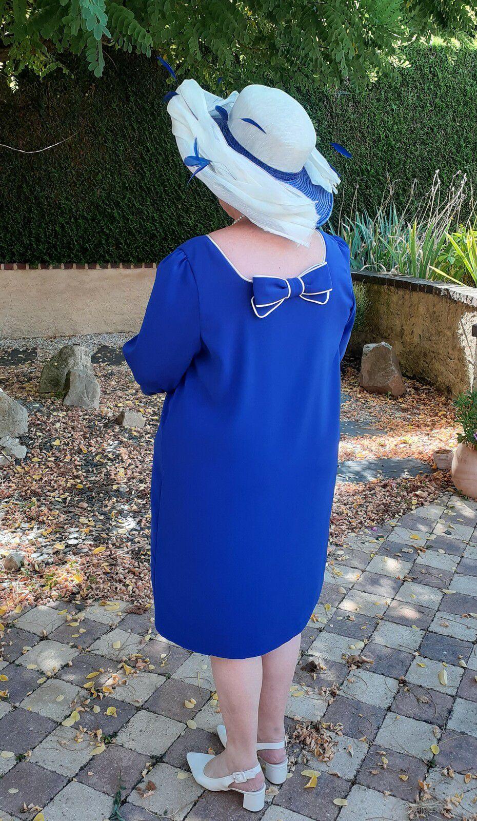 Robe madame S bleu roi