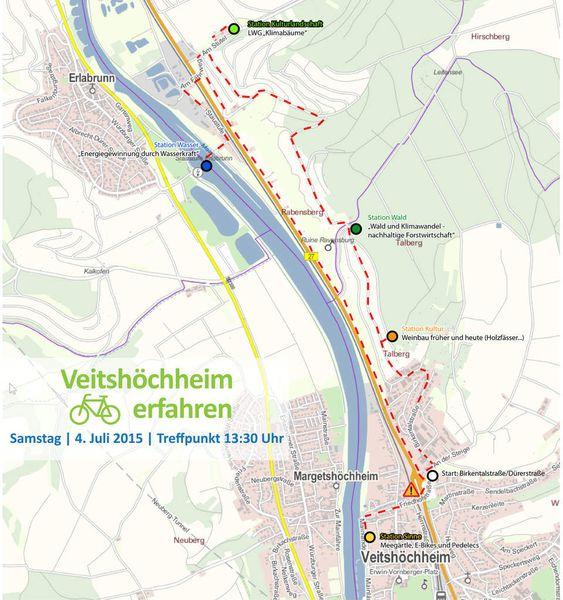 Wein, Wald und Wasser: Fahrraderlebnistour in Veitshöchheim am 4. Juli - Klimawandel steht im Mittelpunkt