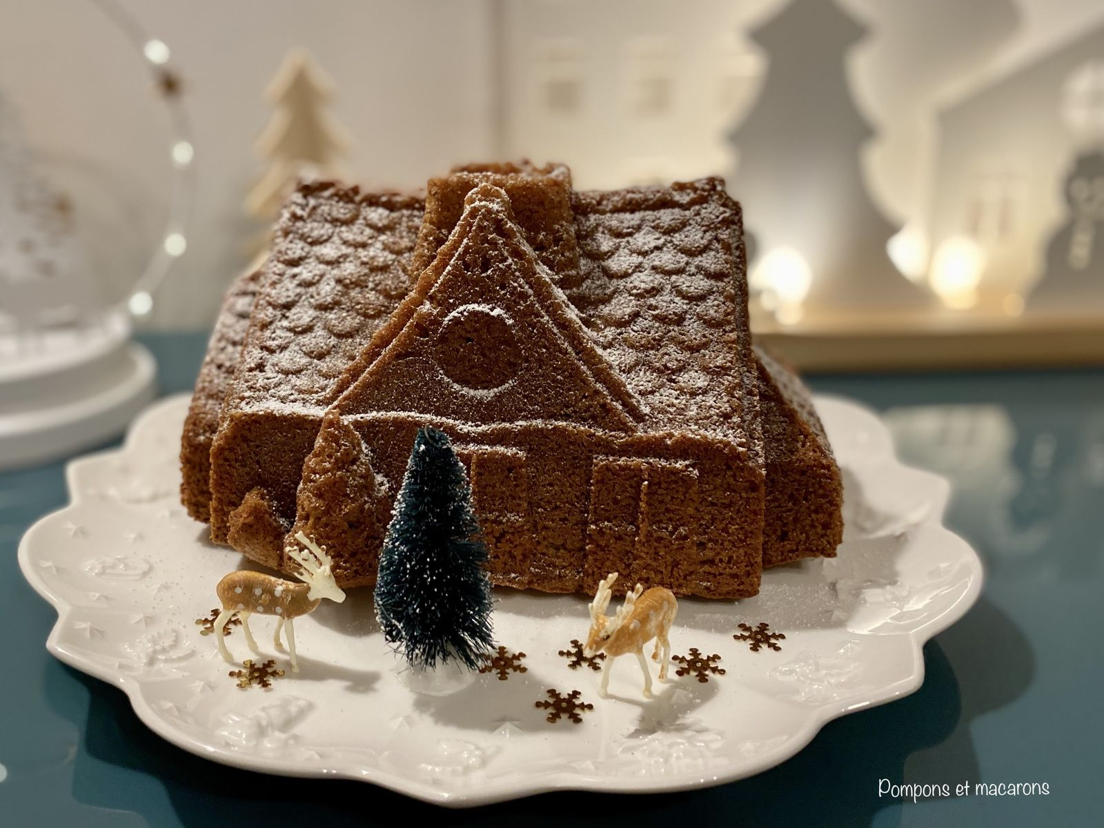 Gâteau Maison de pain d'épices Orange-Amandes-Noisettes (sans gluten et sans lactose)