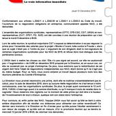 C/!\SH INFO - Jeudi 10 Décembre 2015 - L'équipe UNSA Soléa