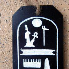 Pendentif en bois - cartouche de Ramses III