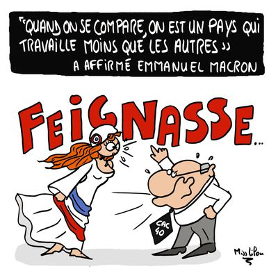 """""""Quand on se compare, on est un pays qui travaille moins que les autres"""" a affirmé Emmanuel Macron"""