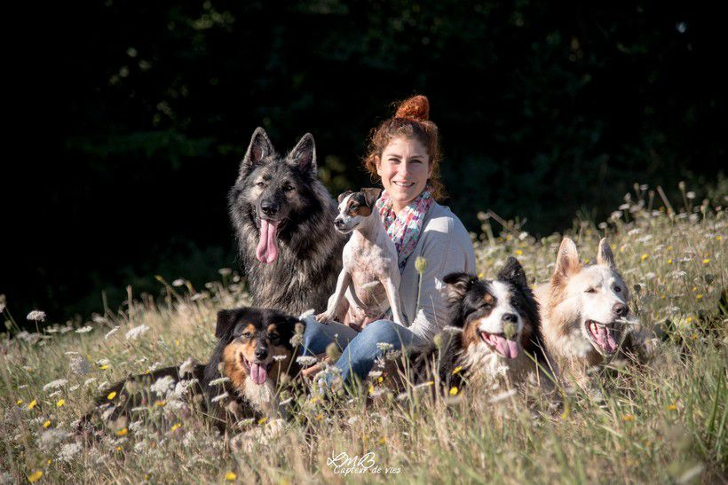 Sasha Goldman et quelques membres de la Dog Faculty