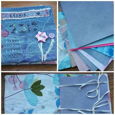 Mini album textile