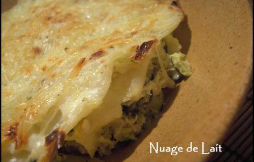 Lasagnes aux Courgettes et Chèvre WW et 1 Menu Dîner