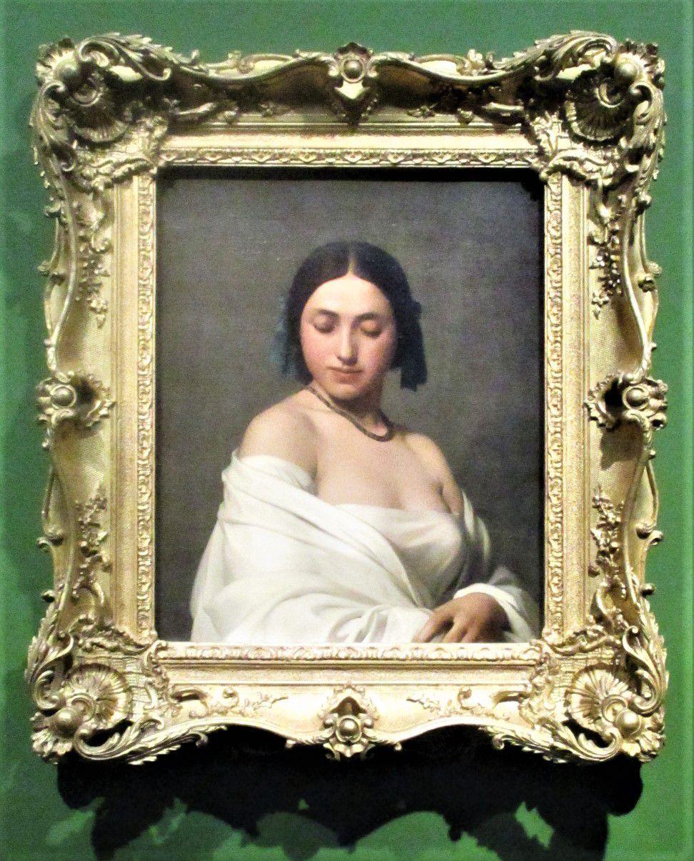 """Portrait de jeune femme dit """"La Florentine"""" - Hippolyte Flandrin, 1840"""