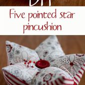 Five pointed star pincushion