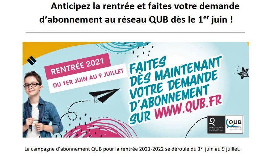Pour la rentrée, la campagne d'abonnement QUB du 1er juin au 9 juillet (communiqué)