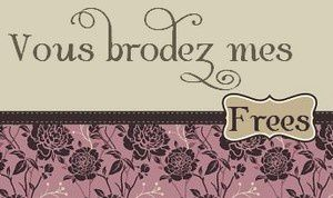 Vous brodez mes frees.... en avril... liens frees