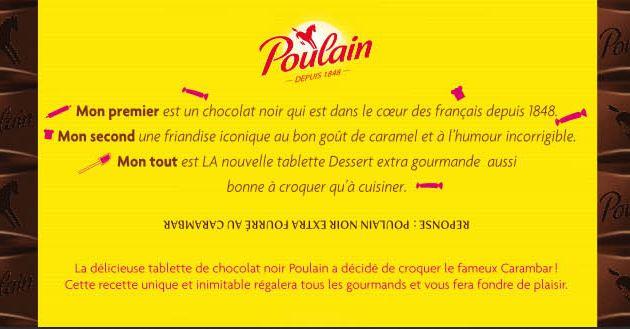 Qui a gagné du Chocolat Poulain Carambar ?