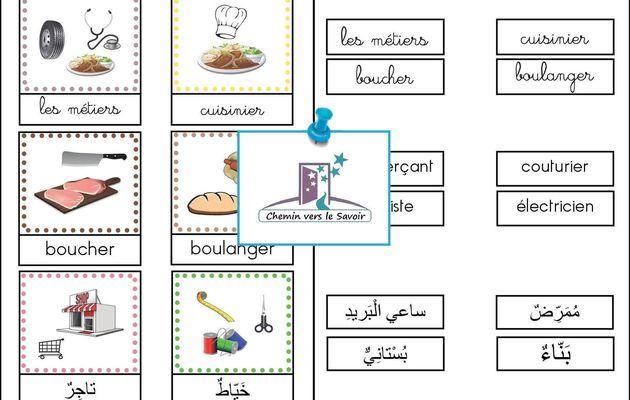 Cartes de Nomenclature - Les Métiers
