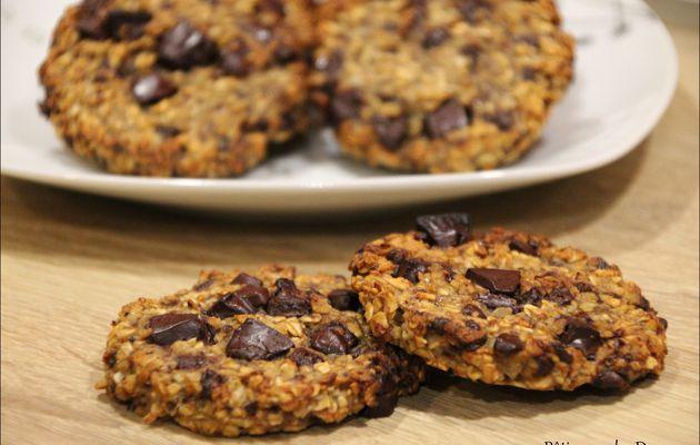 Des Cookies healthy Banane, Flocons d'avoine et Chocolat