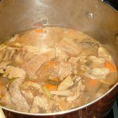 Sauté de veau aux carottes et champignons