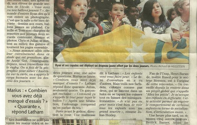 Article de Midi libre : les Wallabies a Accent Francais