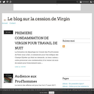Le blog sur la cession de Virgin