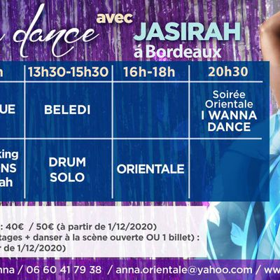 I WANNA DANCE 2021 avec Jasirah à Bordeaux en Mars