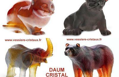 Figurines animaux Cristal DAUM