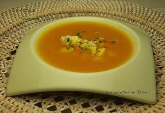 mouliné de carottes et surimi