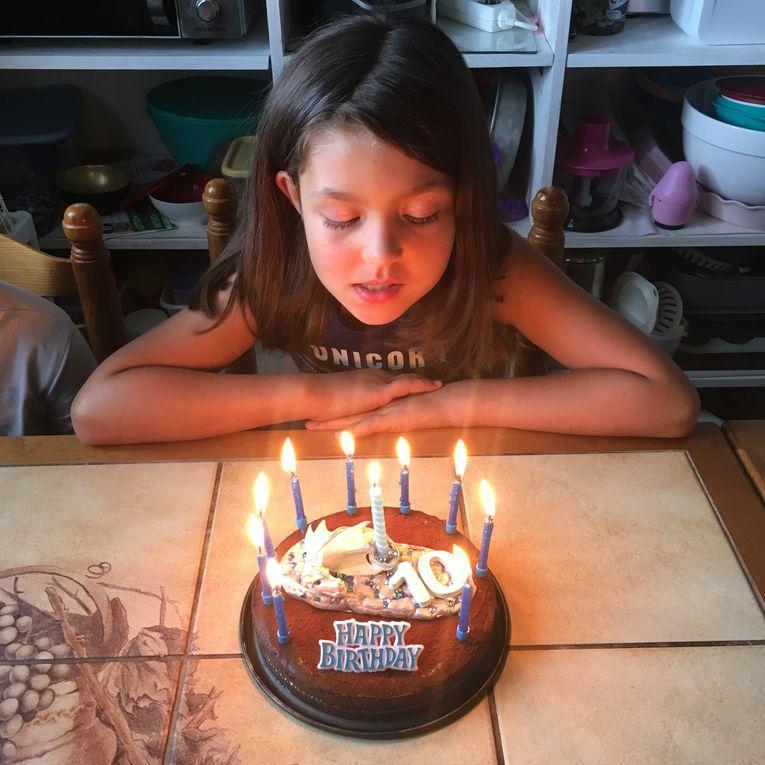 Bougies Dragon pour les 10 ans de mon Alyssonne
