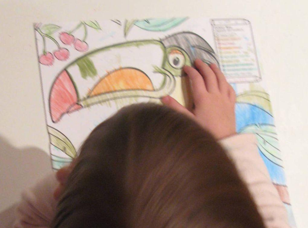 apprendre les couleurs bilingue coloriage par numéro sur charlotteblablablog