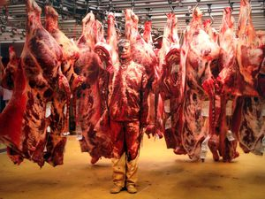 Meat factory - © Liu Bolin