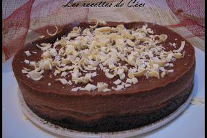 Mon cheesecake au chocolat