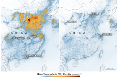 Les effets du confinement sur la pollution en Chine
