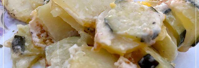 Tian de courgettes pommes de terre avec le cake factory