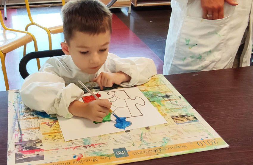 Séances d'art visuel avec les élèves de C.P.