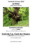 """Invitation à la conférence du 13 mars : """"Forêt du Var, Forêt des Maures"""""""
