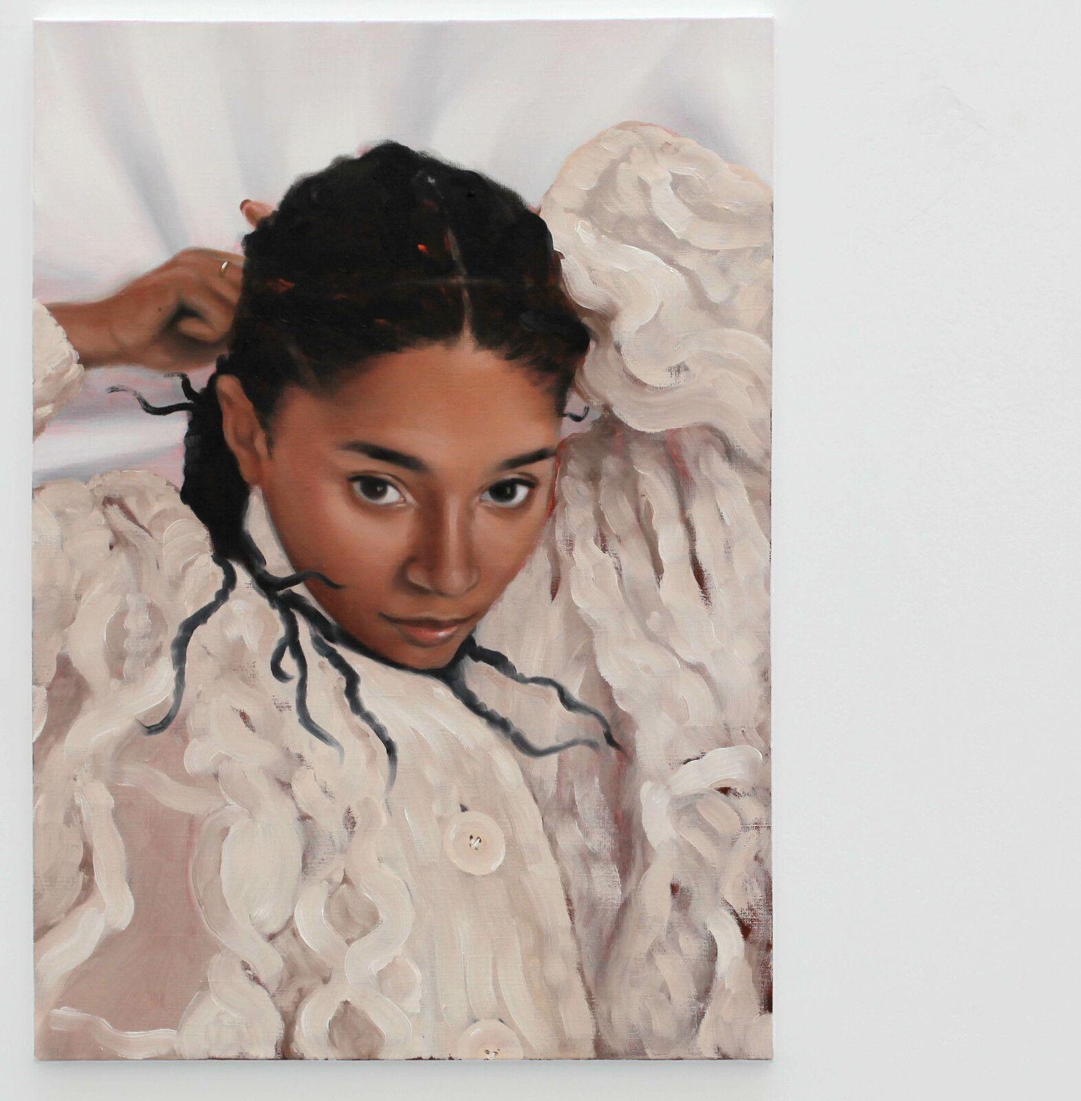 """""""Le tricot"""", 2021 de Alexis RALAIVAO - Courtesy de l'artiste et de la Galerie HUSSENOT © Photo Éric Simon"""
