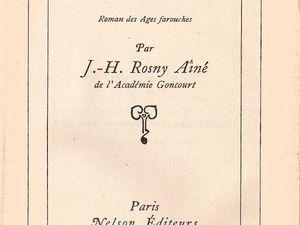 """J.-H. Rosny aîné """"La Guerre du Feu"""" (Nelson - 1933) [Type RBI]"""