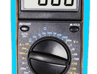 Utilisation d'un Multimètre pour les travaux electriques de nos réseaux miniatures