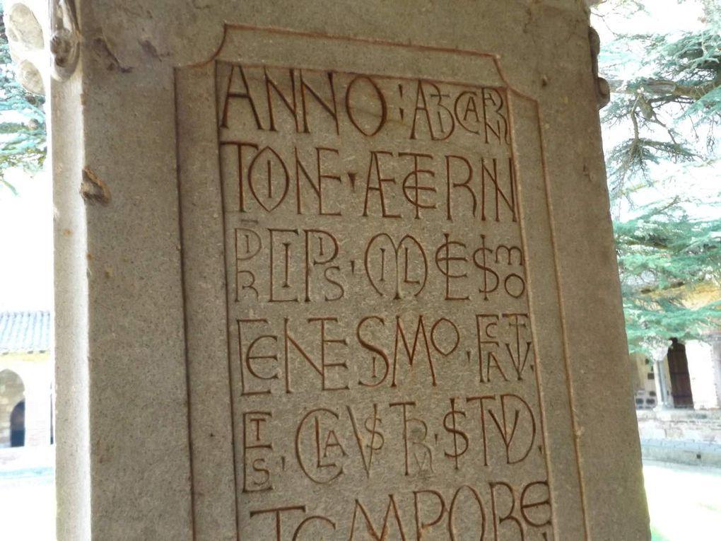 Le pilier d'Ansquétil et celui avec effigie de Durand II de Bredon, abbé de Moissac puis évêque de Toulouse