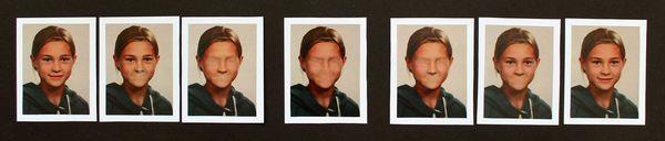 Décomposition d'une identité (photographies retouchées - logiciel GIMP)
