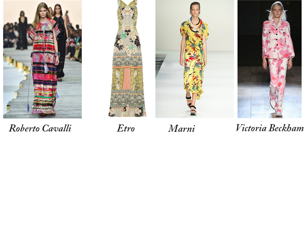 Tendenze moda primavera estate 2015: Cavalli, Etro, Marni, V.Beckham - [foto vogue.it]