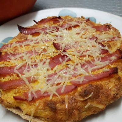 Tarte soufflée au potimarron et bacon gratinée 5sp
