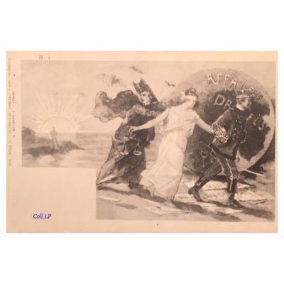 L'affaire Dreyfus.  Serie de 12 cartes éditées en Italie