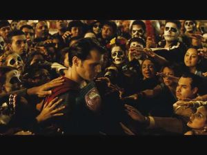Why the day of the dead ? Does Superman's existence make people's mortality umbearable to them ?
