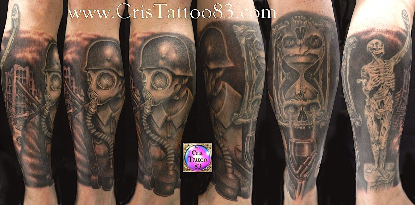 tatouage mollet dark