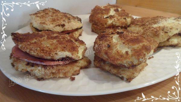 Sandwichs de croquettes au chèvre frais et bacon