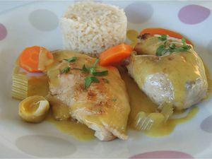 Poule au riz, sauce curry