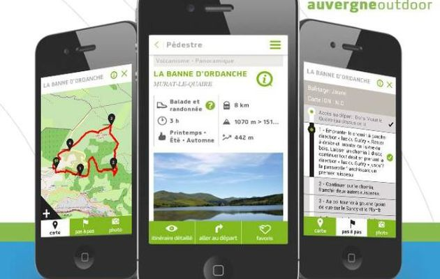 """Application mobile """" outdoor Auvergne """""""
