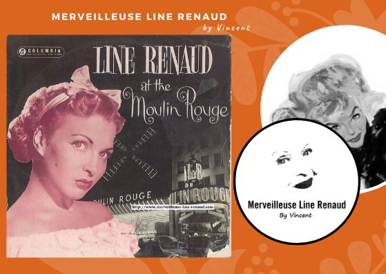 33 TOURS: 1956 Columbia - PG 208 - Line Renaud at the Moulin Rouge (UK)