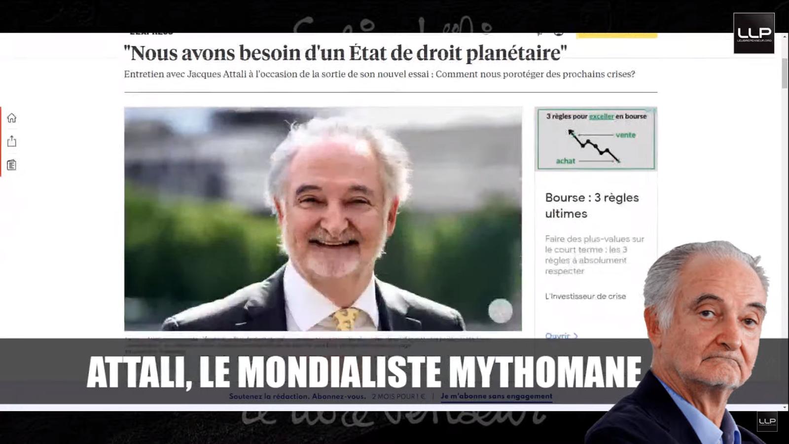 Jacques Attali et son étonnante volte-face