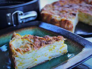 Gâteau Invisible aux Courgettes jaunes, Fourme d'Ambert et Muscade