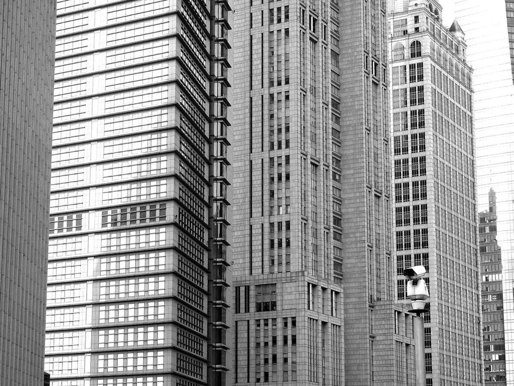 Buildings in Pudong, Shanghaï, China